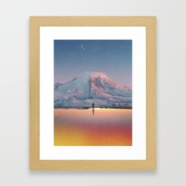 Mount Rainier Washington State Framed Art Print