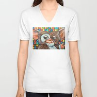 gizmo V-neck T-shirts featuring Gizmo  by Portraits on the Periphery