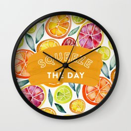 Squeeze the Day – Multi Palette Wall Clock