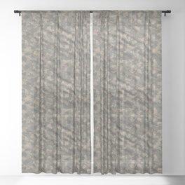 Dark Green Army Camouflage Sheer Curtain