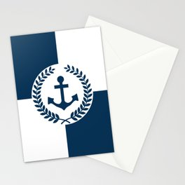 Nautical themed design 2 Stationery Cards