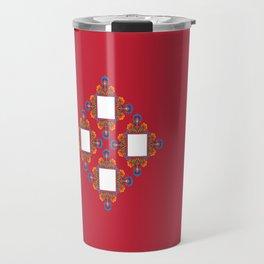 Czerwony Travel Mug