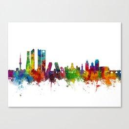 Madrid Spain Skyline Canvas Print