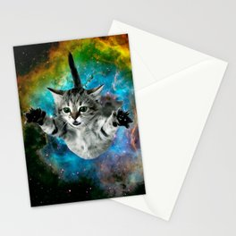 Galaxy Cat Universe Kitten Launch                                                 Stationery Cards
