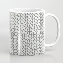 Hand Knit Grey Coffee Mug