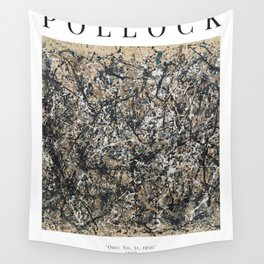 Jackson Pollock - One: No. 31, 1950 - Exhibition Poster Wall Tapestry