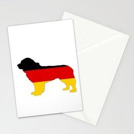 German Flag - Newfoundland Dog Stationery Cards