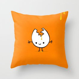 Mr Egg Throw Pillow