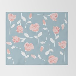 June roses Throw Blanket