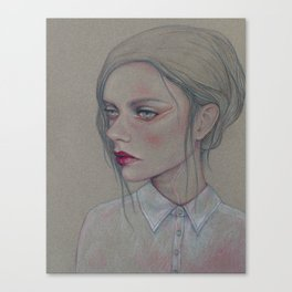 Girl With A Chiffon Blouse Canvas Print