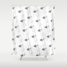 typewriter continuous typing pattern Shower Curtain