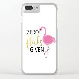 Zero Flocks Clear iPhone Case