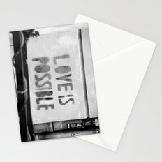 Love is possible - Berlin stencil Stationery Cards