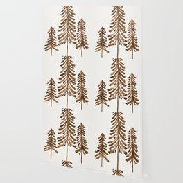 Pine Trees – Sepia Palette Wallpaper