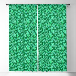 Modern Geometric Snowflakes, Emerald Green Blackout Curtain
