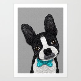 Bow Tie Boston Art Print