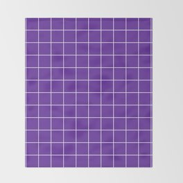 Grape Grid Throw Blanket