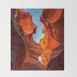 SAND & SKY ANTELOPE CANYON ARIZONA PHOTOGRAPHY Throw Blanket