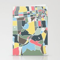 san francisco map Stationery Cards featuring San Francisco. by Studio Tesouro