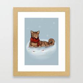 Red Scarf Framed Art Print
