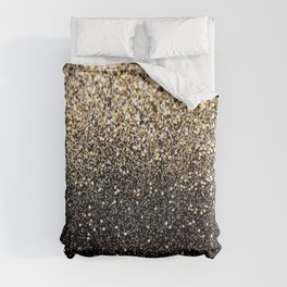 Black Royalty Glitter  Duvet Cover