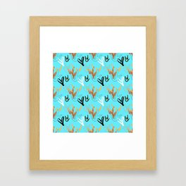 I Love You ILY - Turquoise Framed Art Print