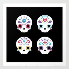 Cute sugar skulls B Art Print