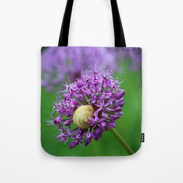 Allium Flower Tote Bag