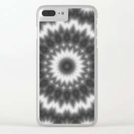 Black white kaleidoscope Clear iPhone Case