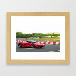 LaFerrari at speed Framed Art Print