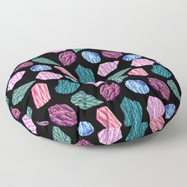 Low poly crystal pattern 1 Floor Pillow