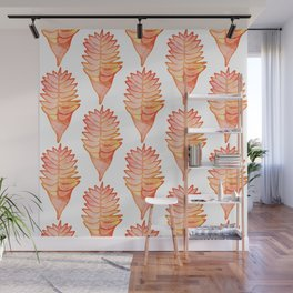 Helconia White Wall Mural