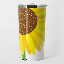 Sunflowers And Bees Travel Mug