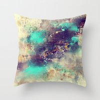 the flash Throw Pillows featuring Flash  by Rafael&Arty
