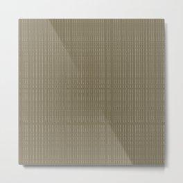 Thin Tonal Lines Metal Print