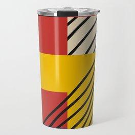 Bauhaus Mid Century Poster - Modern Lines Wall Art, Bauhaus Print, Mid Century Modern Wall Art, Geom Travel Mug