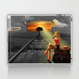Longing for holidays and sun Laptop & iPad Skin