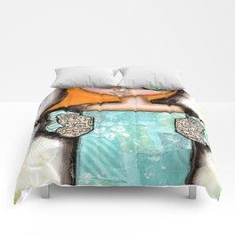 Mixed Media Fairy Girl 6 Comforters