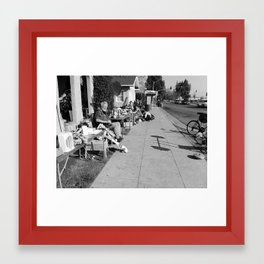 Just another manic monday. Framed Art Print
