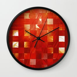 Background Heat Wall Clock