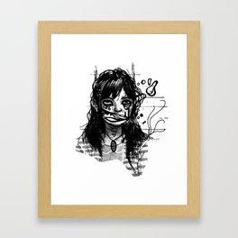 silence is gold plated Framed Art Print