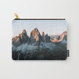 Dolomites sunset panorama - Landscape Photography Carry-All Pouch