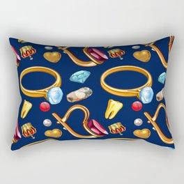 gold party Rectangular Pillow