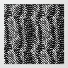 Hand Knit Black Canvas Print