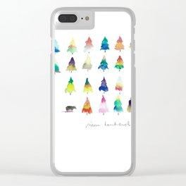 Les sapins Clear iPhone Case