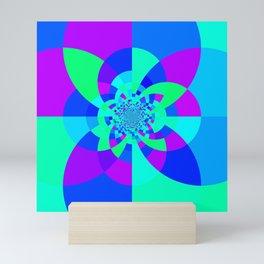 Orchid Aqua Turquoise Kaleidoscope Mini Art Print