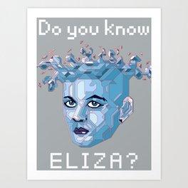 A.I. ELIZA Art Print