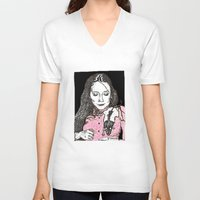jessica lange V-neck T-shirts featuring Jessica by BlushBoundJazzy