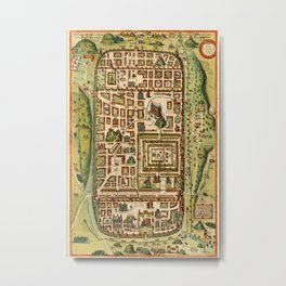 Map Of Jerusalem 1641 Metal Print