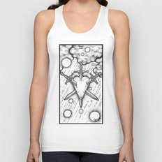 III of Swords Tarot Unisex Tank Top